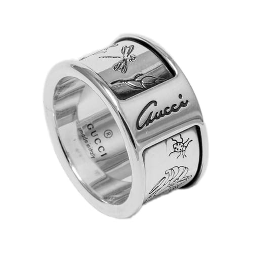 Gucci Butterfly Ring Silver