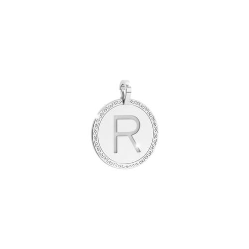 Letter R Pendant Rebecca - My World Alphabet Silver - SWRPAR68