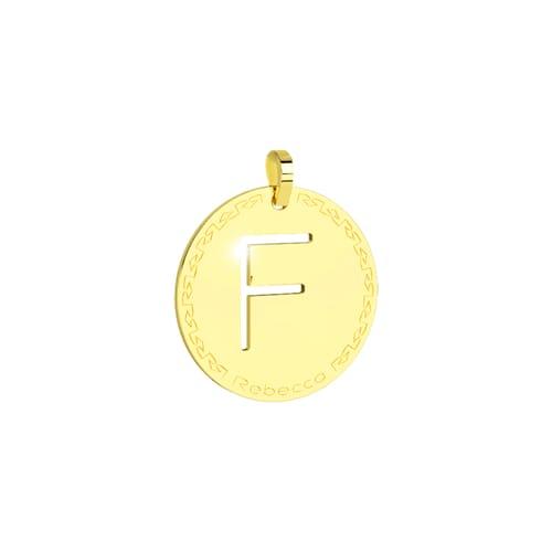 Pendente Rebecca My World Alphabet Silver SWRPOF06 Oro
