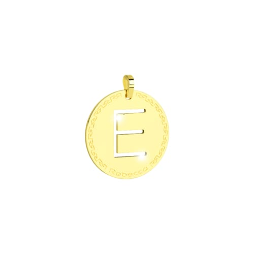 Pendente My World Alphabet Silver Rebecca SWRPOE55 Oro