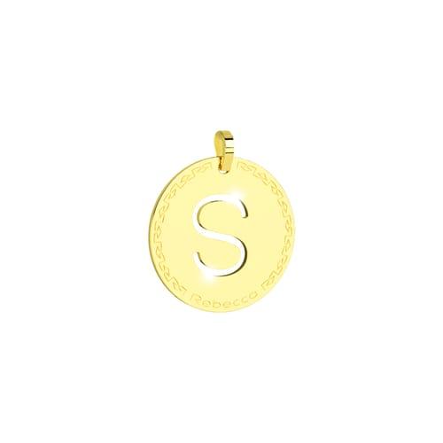 Pendente My World Alphabet Silver Rebecca SWRPOS69 Oro