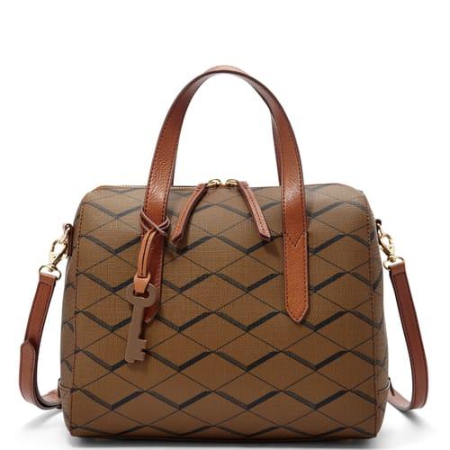 Handbag Fossil Collection Bowling Bag Black Light Tan