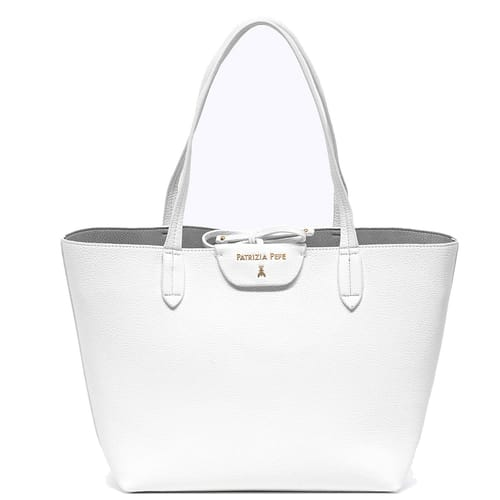 Borsa Patrizia Pepe Shopping bag Bianco Grigio ... 455e48cad75