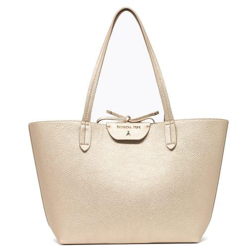 Borsa Patrizia Pepe Shopping bag Silver Oro ... 8f803b4b15f
