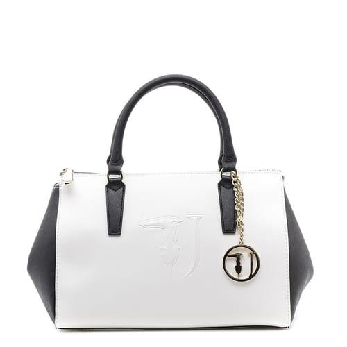 migliore a buon mercato a2345 d71e3 Borsa Trussardi Jeans Bauletto Bianco&Nero - 75B554101