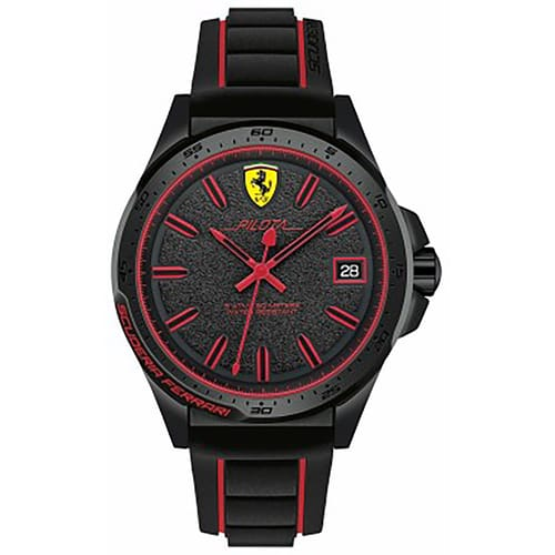 leather chronograph loading s excellent is turismo scuderia itm red ferrari watches image gran