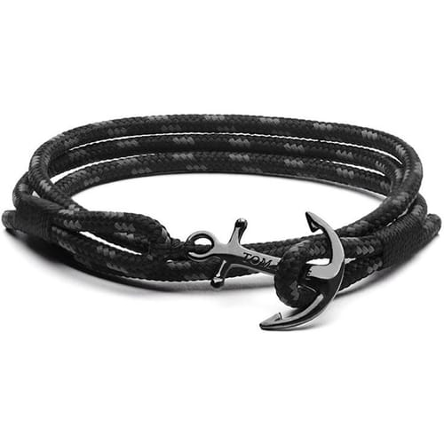 BRACCIALE TOM HOPE TRIPLE BLACK - TM0133