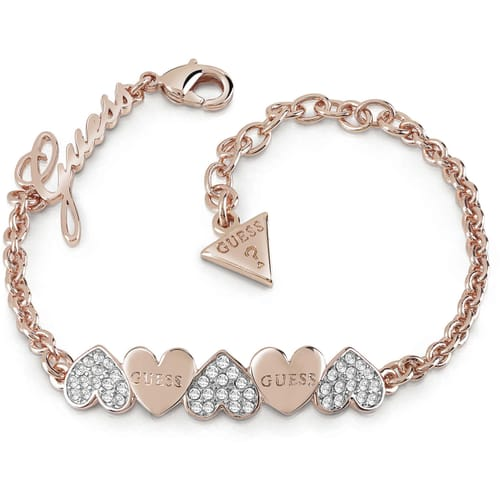 BRACCIALE GUESS HEART BOUQUET - UBB85102-S