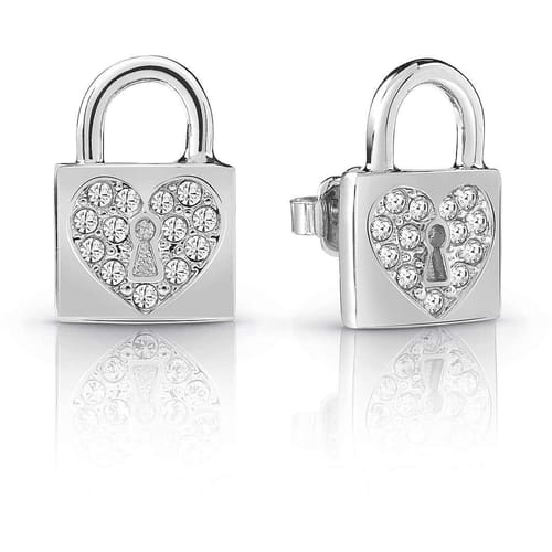 EARRINGS GUESS HEART LOCK - UBE85053