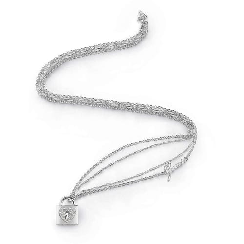 NECKLACE GUESS HEART LOCK - UBN85062