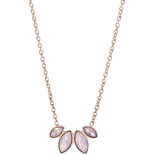 3ef9fbab3df1 Necklace for Female Fossil JF02847791 2018 Vintage glitz