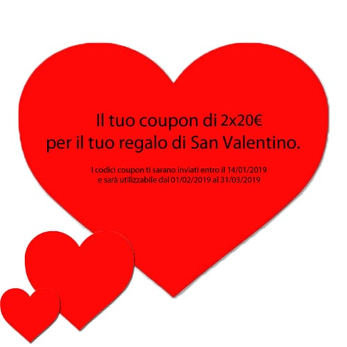 Coupon San Valentino 2x20€