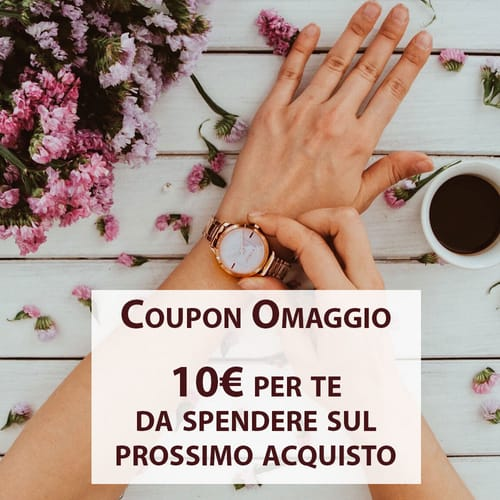 Free 10€  discount coupon on your next purchase!
