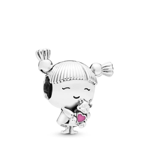 GIRL WITH PIGTAILS PANDORA CHARM - 798016EN160