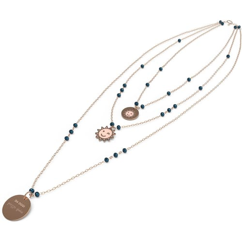 NECKLACE 10 BUONI PROPOSITI CRYSTAL SUMMER - N9829RO/BL