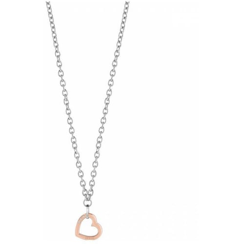 NECKLACE GUESS HEARTED CHAIN - UBN29073