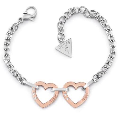BRACCIALE GUESS HEARTED CHAIN - UBB29073-S