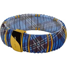 Bracciale Hip Hop Jewels Kint - Tartan Blue