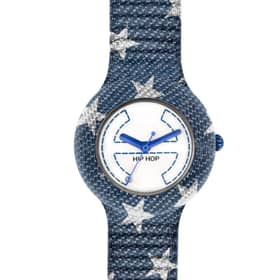 Hip Hop Watches Denim Stars - HWU0404