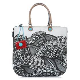 Gabs Handbag - Alicia Collection - White and Black