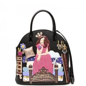 Tua Cartoline Sport 115 (copy 2) Handbag Braccialini Collection - Bowling bag Black