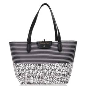 Borsa Patrizia Pepe Shopping bag Righe e fiori