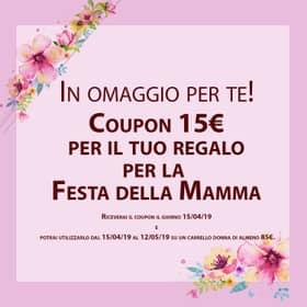Coupon omaggio Festa della Mamma