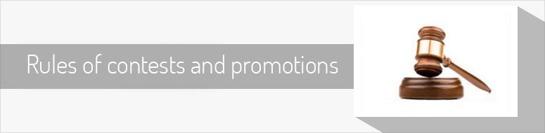 Rules of contests and promotions