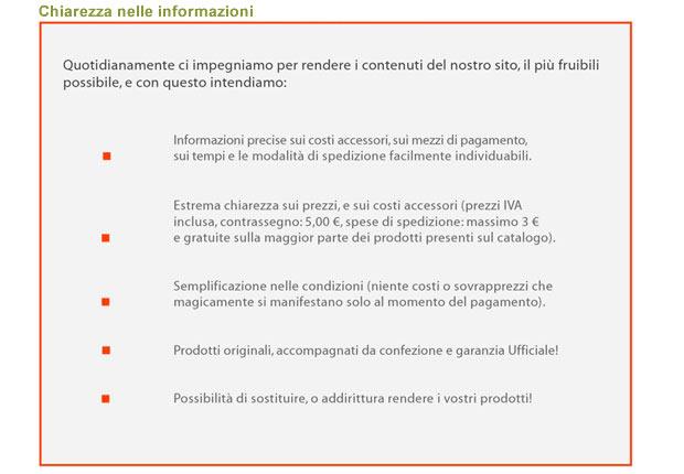 Trasparenza nelle informazioni